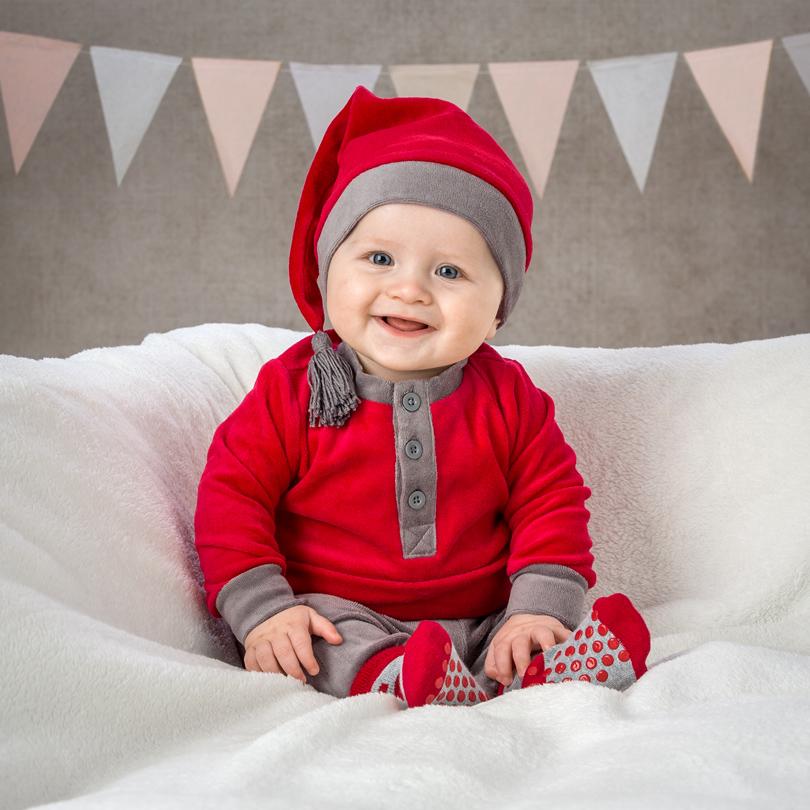 Bebis 6 månader i julkläder