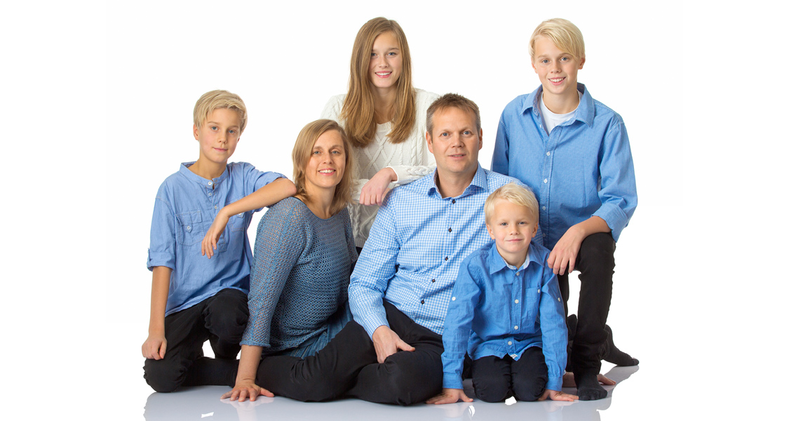 Familj i studio